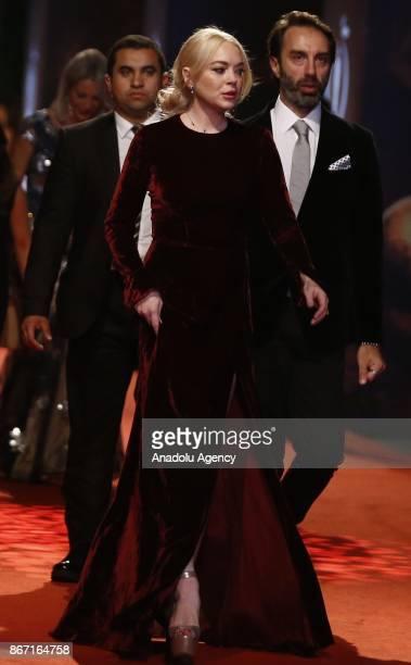 Lindsay Lohan attends the closing ceremony of 54th International Antalya Film Festival in Antalya Turkey on October 27 2017