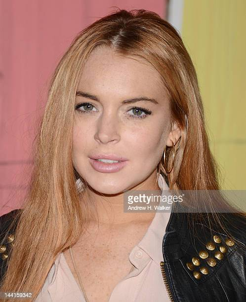 Lindsay Lohan attends the Domingo Zapata Life Is A Dream Art Exhibition at Dream Downtown on May 10 2012 in New York City