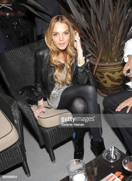 Lindsay Lohan attends The Dsquared2 and W Event at Chateau Marmont Penthouse 64 on November 6 2008 in Los Angeles California