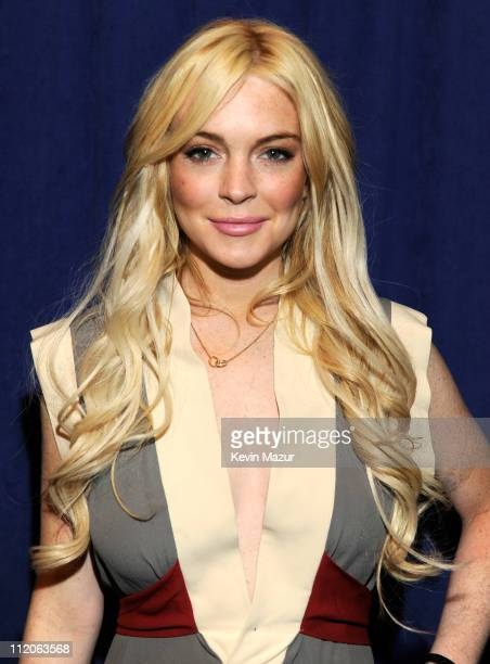 Lindsay Lohan attends the Gotti press conference at Sheraton New York Hotel Towers Central Park West Room on April 12 2011 in New York City