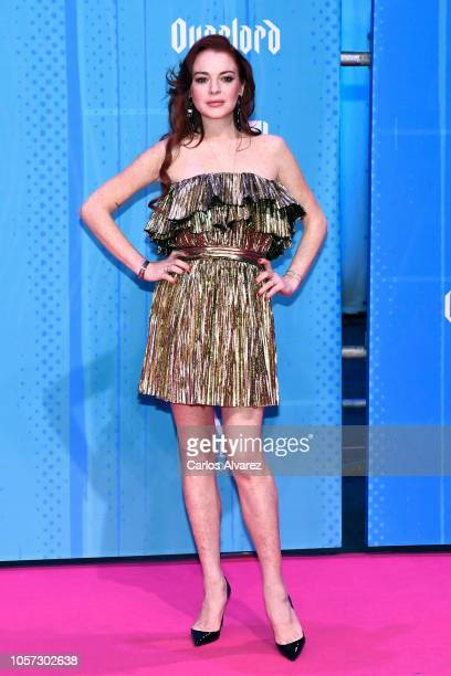Lindsay Lohan attends the MTV EMAs 2018 at Bilbao Exhibition Centre on November 4 2018 in Bilbao Spain