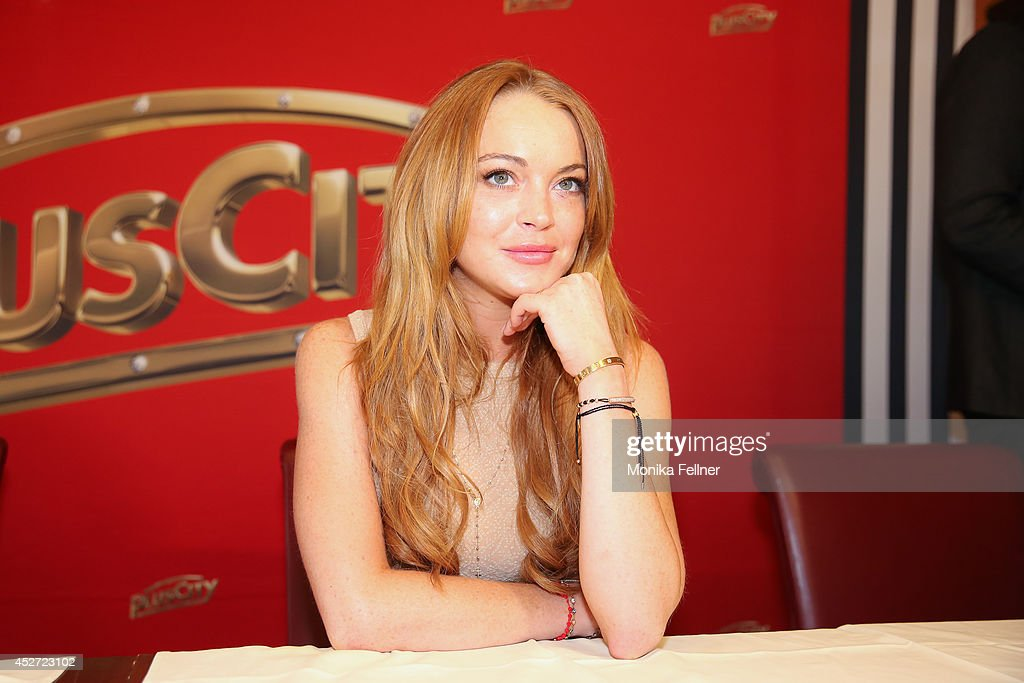 Lindsay Lohan At 'Weisses Fest 2014' : News Photo