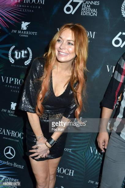 Lindsay Lohan attends the VIP Room JW Marriot : Day 8 - The 67th Annual Cannes Film Festival on May 21, 2014 in Cannes, France.