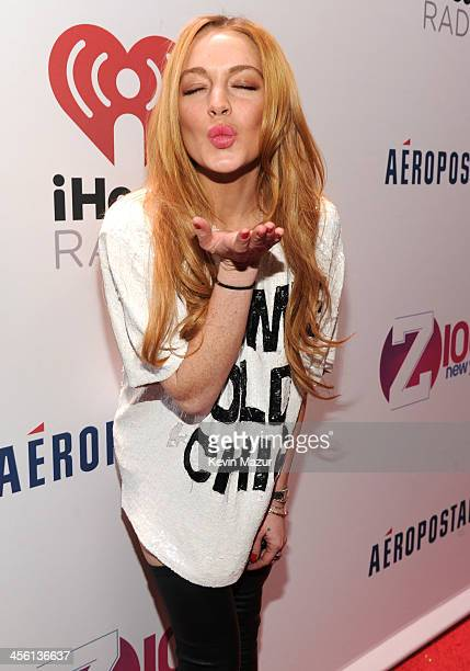 Lindsay Lohan attends Z100's Jingle Ball 2013 presented by Aeropostale at Madison Square Garden on December 13 2013 in New York City