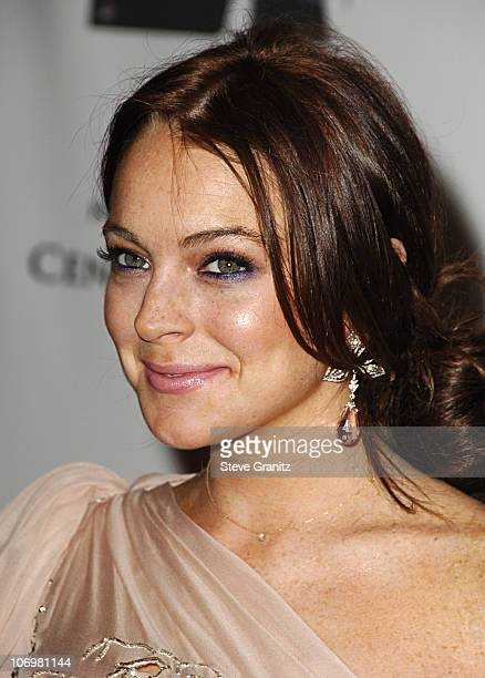 Lindsay Lohan during 13th Annual Race to Erase MS Sponsored by Nancy Davis and Tommy Hilfiger - Arrivals at Hyatt Regency Century Plaza in Century...