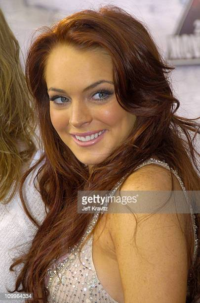 Lindsay Lohan during 2004 MTV Movie Awards Red Carpet at Sony Pictures Studios in Culver City California United States