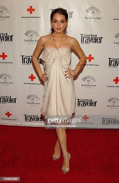 Lindsay Lohan during 2006 Conde Nast Traveler Hot List Party - Inside Arrivals at Buddha Bar in New York City, New York, United States.