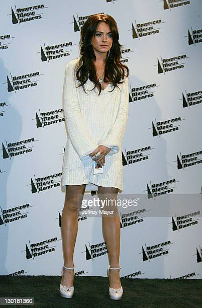 Lindsay Lohan during 33rd Annual American Music Awards Press Room at Shrine Auditorium in Los Angeles California United States