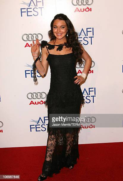 """Lindsay Lohan during AFI Fest 2006 Black Tie Opening Night Gala and US Premiere of Emilio Estevez's """"Bobby"""" - Arrivals at Grauman's Chinese Theater..."""