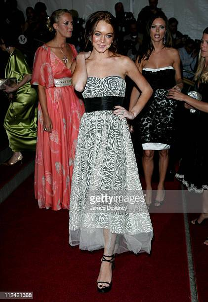 Lindsay Lohan during AngloMania Costume Institute Gala at The Metropolitan Museum of Art Arrivals Celebrating AngloMania Tradition and Transgression...