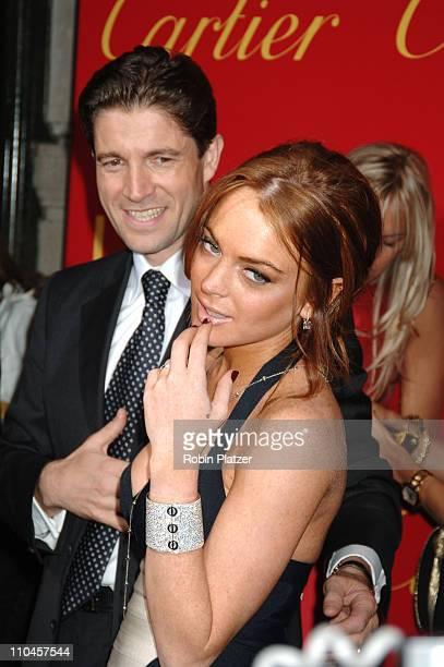 Lindsay Lohan during Cartier and Interview Magazine Celebrate The Cartier Charity Love Bracelet at The Cartier Mansion in New York City New York...
