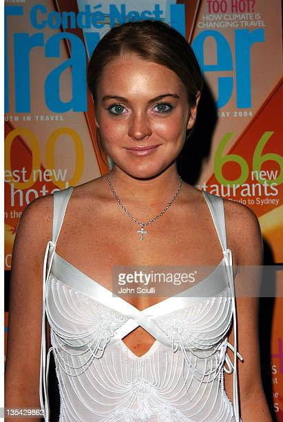Lindsay Lohan during Conde Nast Traveler Hot Nights Los Angeles Inside at Spider Club in Hollywood California United States