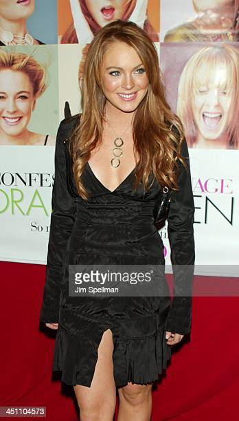 Lindsay Lohan During Confessions Of A Teenage Drama Queen New York Premiere Arrivals At Loews EWalk