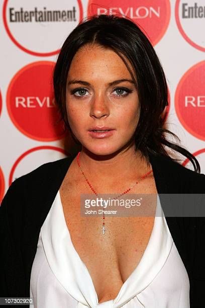 Lindsay Lohan during Entertainment Weekly Magazine 4th Annual PreEmmy Party Inside at Republic in Los Angeles California United States