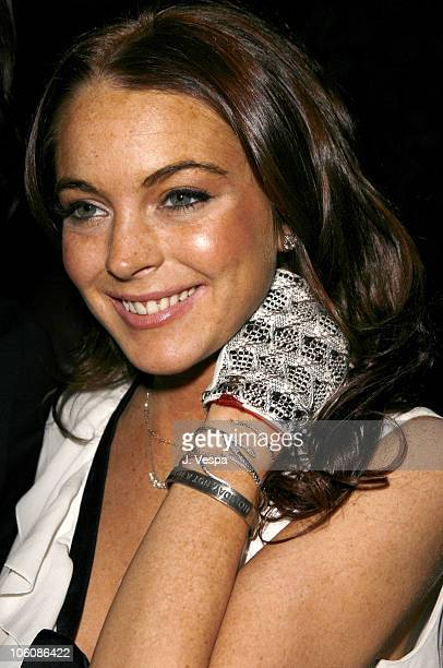 Lindsay Lohan during Flaunt Magazine Presents Nefarious Fine Jewelry Hosted by Velvet Revolver at Black Steel Restaurant in Hollywood California...