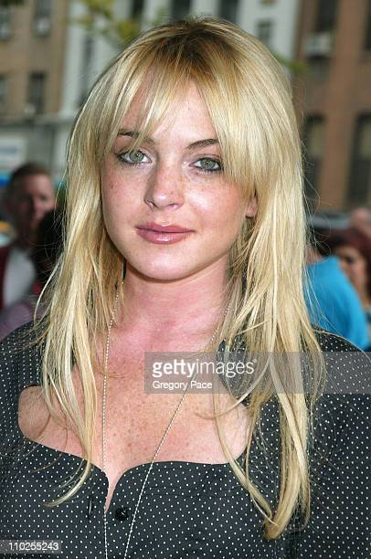 Lindsay Lohan during Four Brothers New York City Premiere Outside Arrivals at Clearview Chelsea West in New York City New York United States