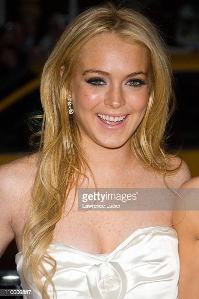 Lindsay Lohan during Georgia Rule New York City Premiere - Outside Arrivals at Ziegfeld Theater in New York City, New York, United States.