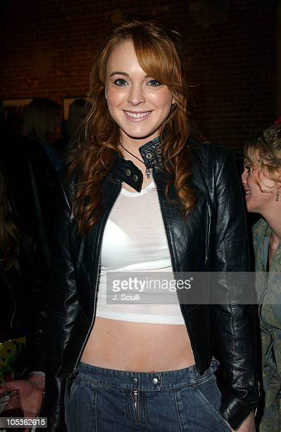 Lindsay Lohan during Gottfried Helnwein and Bryten Goss Print Exhibition Hosted by Danny Masterson at Downtown Independent Gallery in Los Angeles...