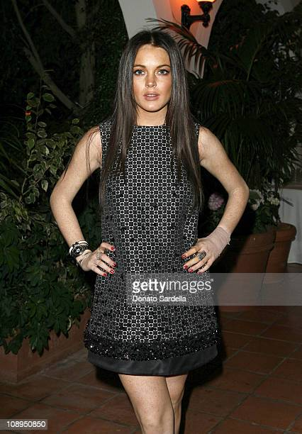 Lindsay Lohan during 'Gucci by Gucci' Book Party With Film Foundation October 25 2006 at Bel Air Hotel in Bel Air California United States