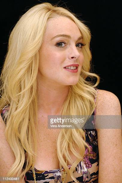 "Lindsay Lohan during ""Herbie Fully Loaded"" Press Conference with Lindsay Lohan, Michael Keaton and Matt Dillon at Century Plaza in Los Angeles,..."