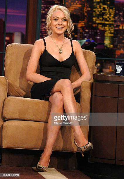 Lindsay Lohan during Lindsay Lohan Backstreet Boys and Jeremy Piven Visit The Tonight Show with Jay Leno June 16 2005 at Tonight Show in Burbank...