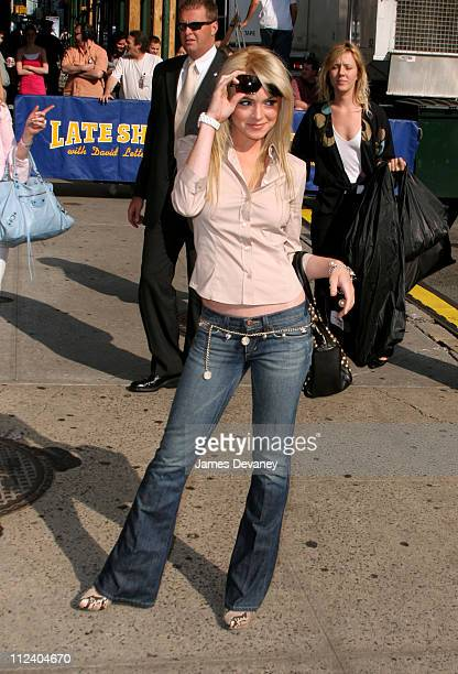 """Lindsay Lohan during Lindsay Lohan Visits the """"Late Show with David Letterman"""" - June 21, 2005 at Ed Sullivan Theatre in New York City, New York,..."""