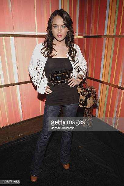 Lindsay Lohan during Nordstrom Silverscreencom Party at Marquee at Marquee in New York City New York United States