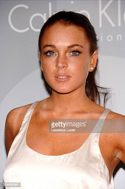 Lindsay Lohan during Olympus Fashion Week Spring 2007 Calvin Klein After Party Hosted by Drew Barrymore and Maggie Gyllenhaal at 7 World Trade Center...