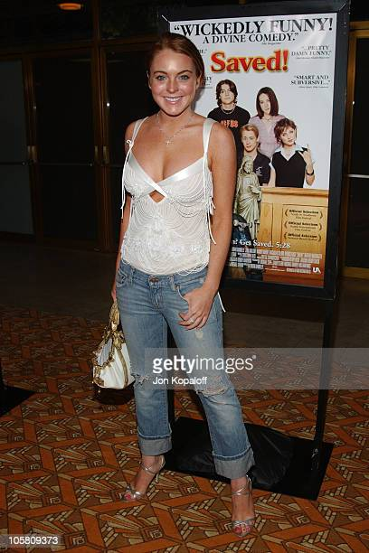 Lindsay Lohan during 'Saved' Los Angeles Premiere at Mann National Theatre in Westwood California United States