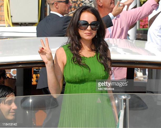 Lindsay Lohan during The 63rd International Venice Film Festival Celebrities Leaving the Cipriani Hotel September 5 2006 at Cipriani Hotel in Venice...