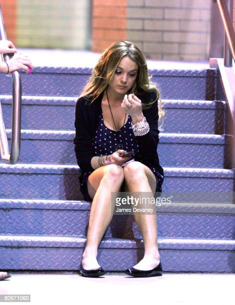 Lindsay Lohan films on location for 'Ugly Betty' on September 4 2008 in New York City
