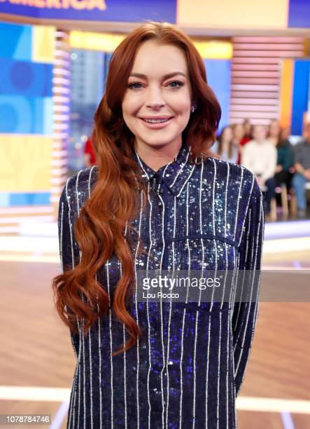 AMERICA Lindsay Lohan is a guest on Good Morning America on Monday January 7 airing on the ABC LINDSAY