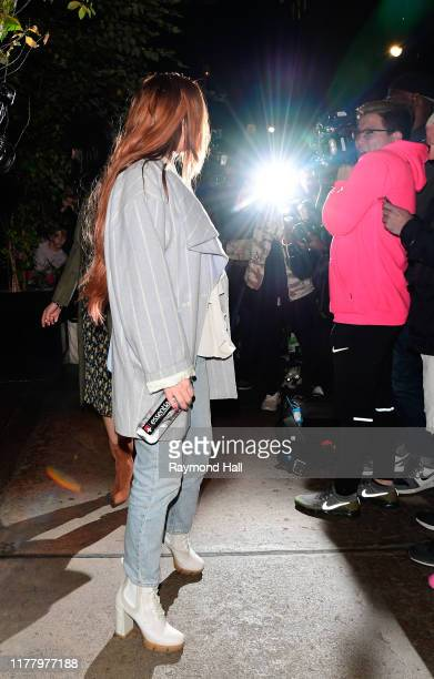 Lindsay Lohan is seen in Soho on October 24 2019 in New York City