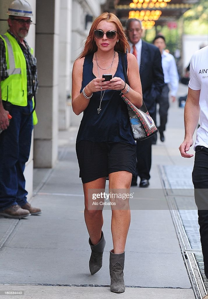 Lindsay Lohan is seen in Soho on September 11, 2013 in New York City.
