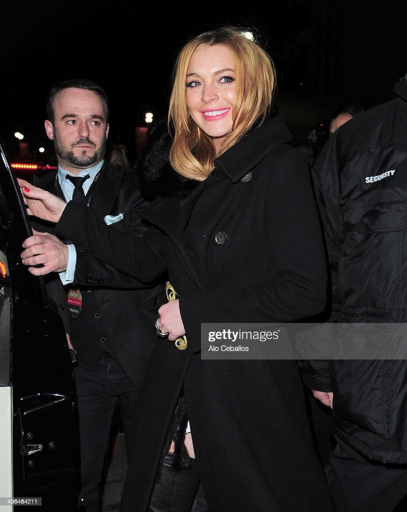 Lindsay Lohan is seen on December 13, 2013 in New York City.