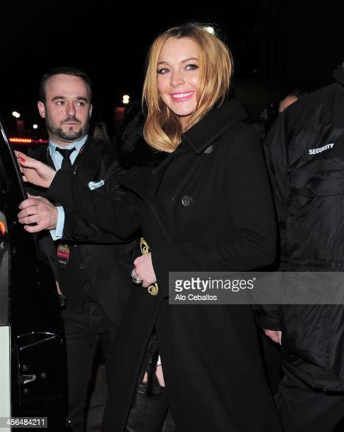 Lindsay Lohan is seen on December 13 2013 in New York City
