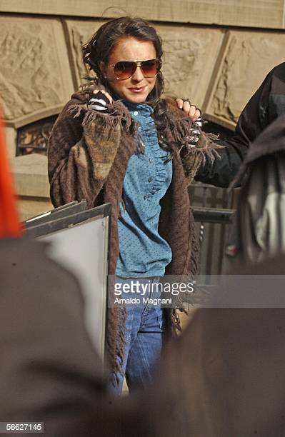 Lindsay Lohan is seen on the movie set during filming 'Chapter 27' in front of the Dakota building in Manhattan on January 19 2005 in New York City...