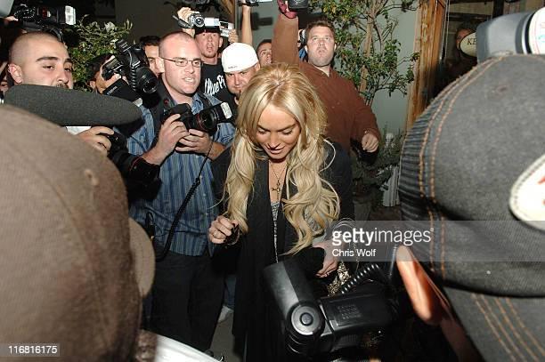 Lindsay Lohan leaving Ken Paves salon on November 3 2007 in Los Angeles California