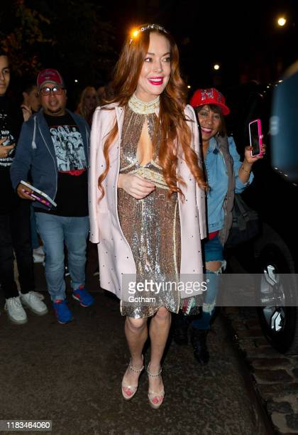 Lindsay Lohan out and about on October 25 2019 in New York City