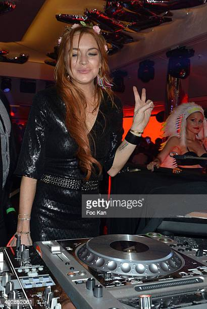 Lindsay Lohan performs at the VIP Room JW Marriot on Day 8 of the 67th Annual Cannes Film Festival on May 21, 2014 in Cannes, France.