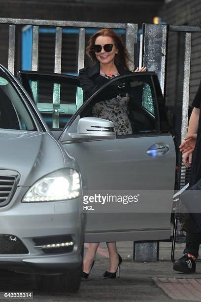 Lindsay Lohan seen leaving the ITV Studios on February 21 2017 in London England
