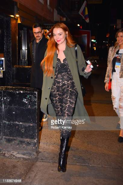 Lindsay Lohan seen out and about in Manhattan on March 29, 2019 in New York City.