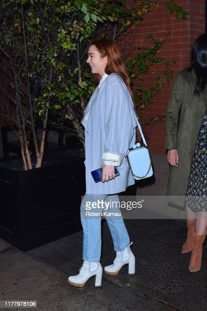 Lindsay Lohan seen out and about in Manhattan on October 24 2019 in New York City