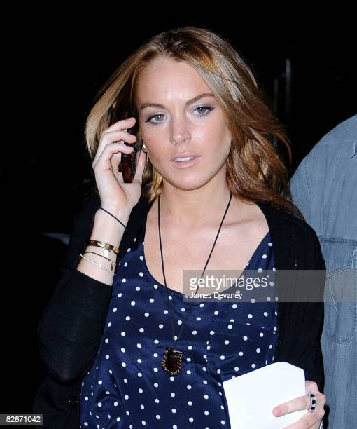 Lindsay Lohan seen walking to the 'Ugly Betty' set on September 4 2008 in New York City