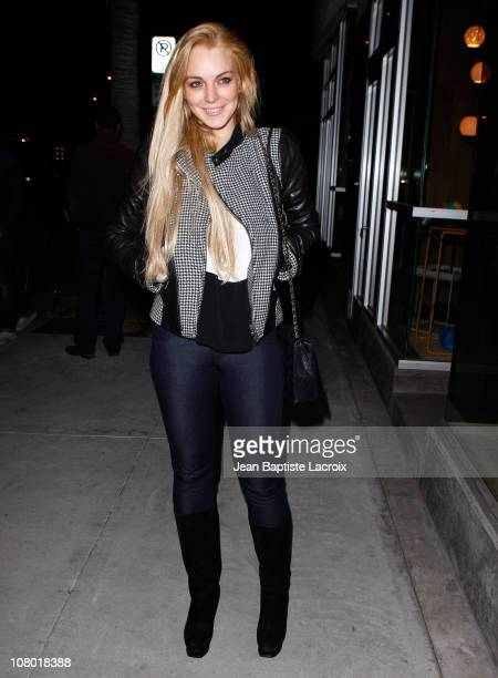 Lindsay Lohan sighted on January 12 2011 in Los Angeles California