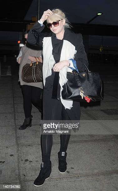 Lindsay Lohan sighting at JFK International Airport on March 5 2012 in New York City