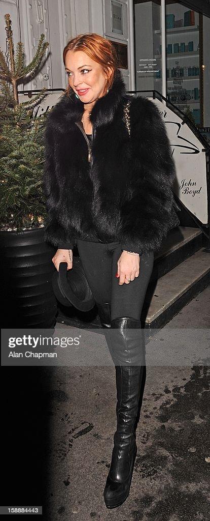 Lindsay Lohan sighting at Nozomi on January 2, 2013 in London, England.