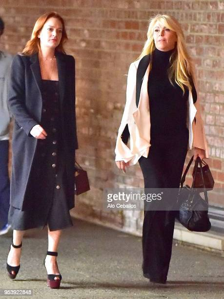Lindsay LohanDina Lohan are seen in Soho on April 29 2018 in New York City