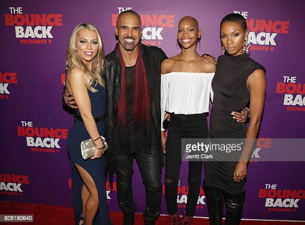Lindsay McCormick Shemar Moore Nadja Alaya and her mother attend the Premiere Of Viva Pictures' 'The Bounce Back' at TCL Chinese Theatre on December...