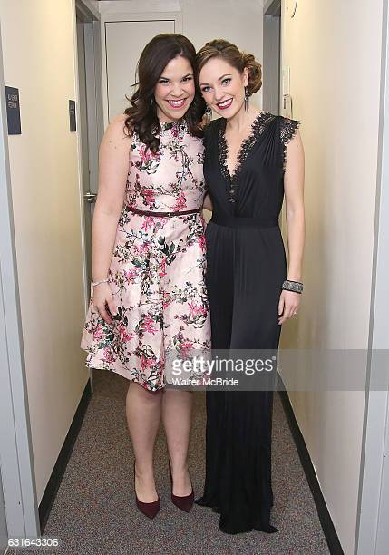 Lindsay Mendez and Laura Osnes backstage at The American Pops Orchestra '75 Years of Streisand' at the George Washington University Lisner Auditorium...